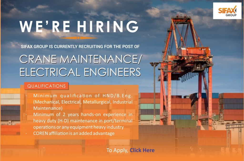 Vacancy Design-Crane Maintenance Eng
